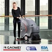 北京手推式洗地机_北京高美单刷手推式洗地机GM50B