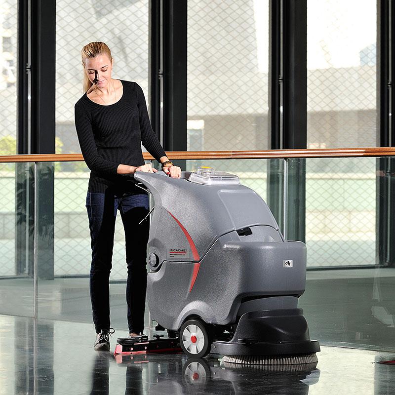 GM50B高美手推式洗地机|广州电瓶式洗地机